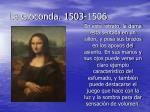 la gioconda 1503 1506