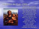 madonna dei fusi 1501