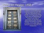 puerta del para so 1452