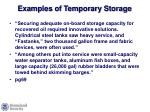 examples of temporary storage