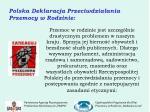 polska deklaracja przeciwdzia ania przemocy w rodzinie