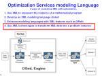 optimization services modeling language 4 ways of combining xml with optimization