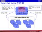 feature pack for sca