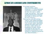 african americans contribute