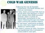 cold war genesis