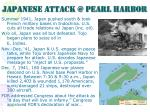 japanese attack @ pearl harbor