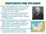preparing for invasion