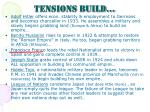 tensions build