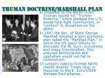 truman doctrine marshall plan