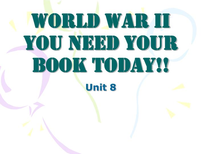 world war ii you need your book today n.