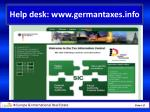 help desk www germantaxes info