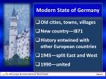 modern state of germany