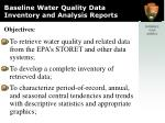 baseline water quality data inventory and analysis reports1