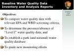 baseline water quality data inventory and analysis reports2