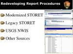 redeveloping report procedures