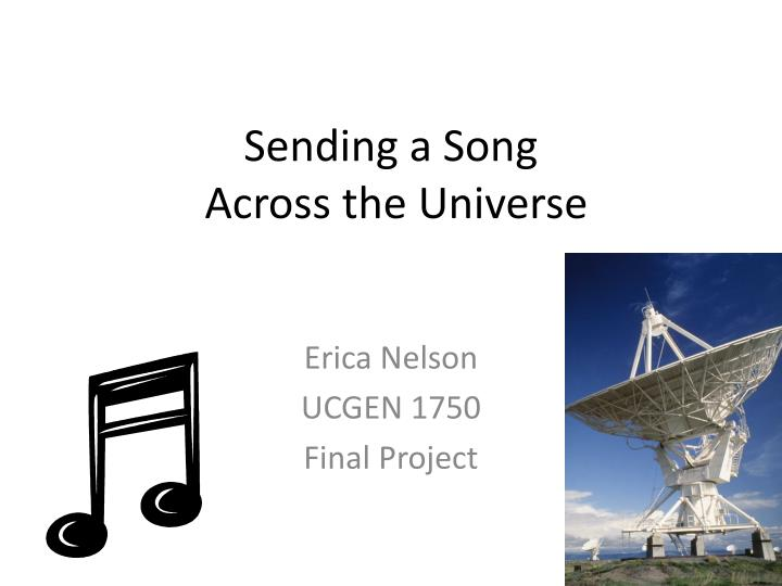 sending a song across the universe n.