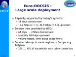 euro docsis large scale deployment