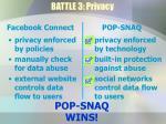 battle 3 privacy