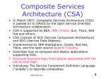 composite services architecture csa