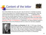 content of the letter1