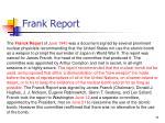 frank report