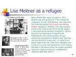 lise meitner as a refugee