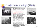 london was burning 1940