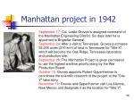 manhattan project in 1942