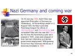 nazi germany and coming war