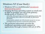 windows nt case study