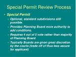 special permit review process