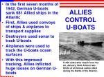 allies control u boats