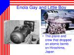 enola gay and little boy