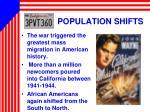 population shifts