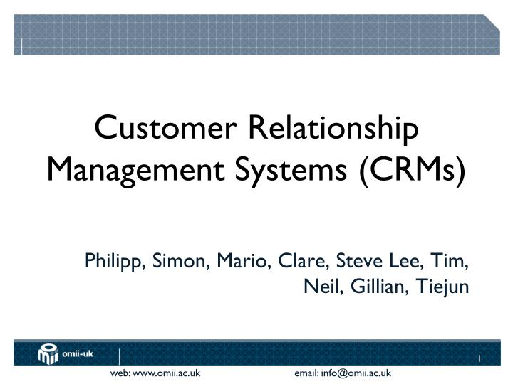 customer relationship management systems crms n.