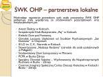 wk ohp partnerstwa lokalne