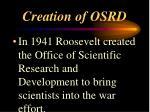 creation of osrd