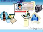 certificate service provider