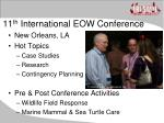11 th international eow conference