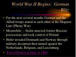 world war ii begins german blitz