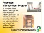 asbestos management program
