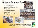 science program safety