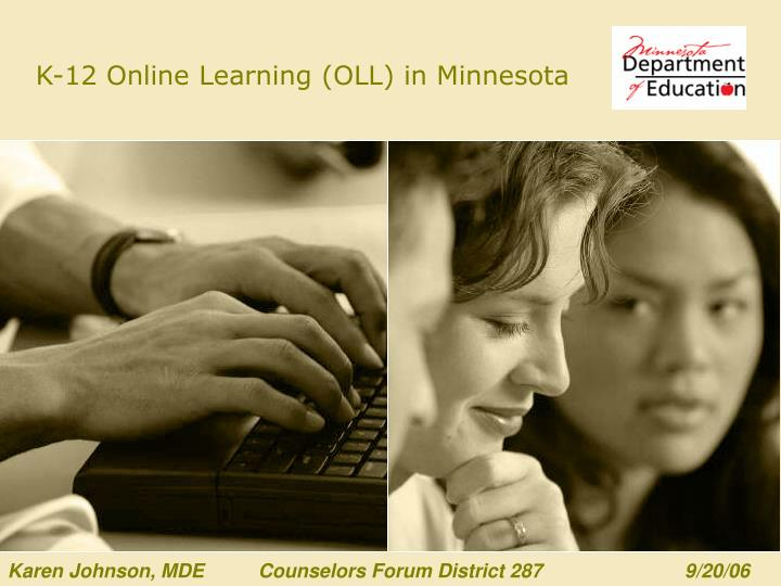 k 12 online learning oll in minnesota n.