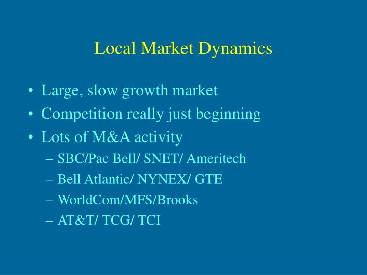 local market dynamics n.