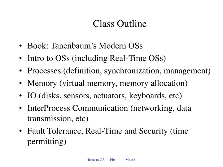 Class outline