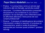 faye glenn abdellah new york 1942