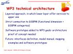 wp3 technical architecture