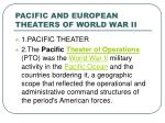 pacific and european theaters of world war ii