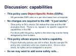 discussion capabilities