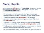 global objects